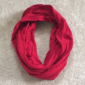 Forever 21 red circle scarf